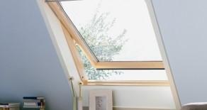 ...das Schwingfenster aus Holz.